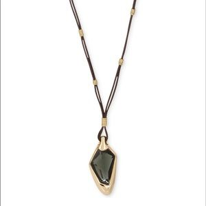 Robert Lee Morris Green Gold-Tone Pendant Necklace